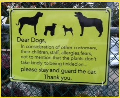 nursery dog sign