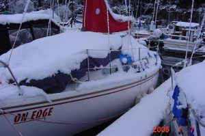 This is what the boat looked like the next morning....BRRRRRR